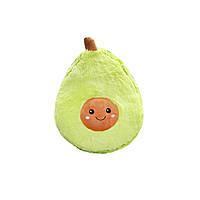 Мягкая детская плюшевая игрушка Авокадо в стиле ИКЕА, подушка-антистресс из флиса 20 см