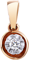 Кулон золотой с бриллиантом