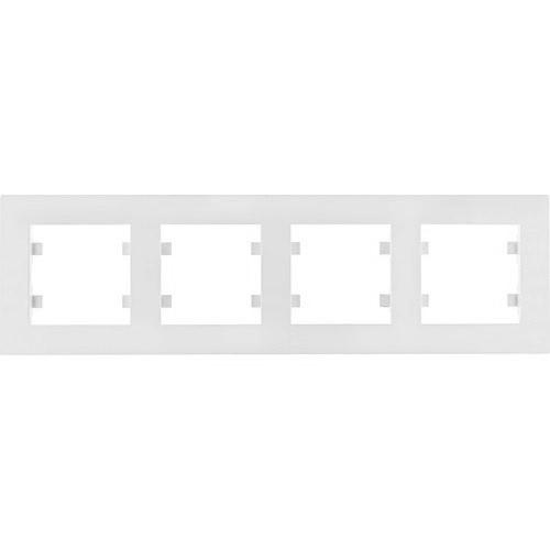 Рамка 4 пост. горизонтальна Hager Lumina intense Білий