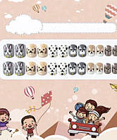Нігті дитячі накладні яскраві «Улюблений ведмедик» Japan international Joyme