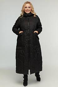 Пальто-трансоформер 2в1  демисезонное длинное до пят размер от 48 до 72