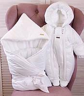 Зимовий комплект для новонароджених Finland + Вьюга білий, фото 1