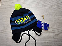 Шапка для мальчика демисезонная на завязках полосатая URBAN Размер 46-48  см Возраст 1-2 года, фото 2