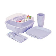 Набор посуды для пикника Irak Plastik на 6 персон