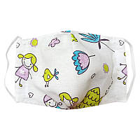 Детская маска защитная многоразовая Time Textile Детки на даче