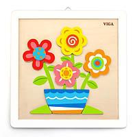 Набор для творчества Viga Toys Картина своими руками Цветы (50685), фото 1