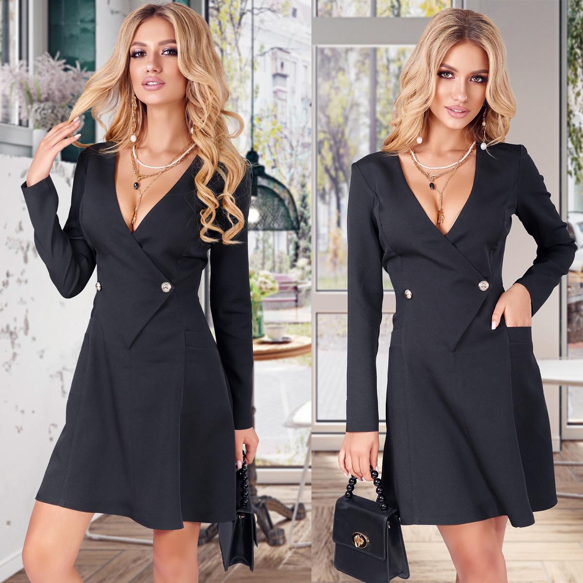 Чорне ошатне плаття (Код MF-235)