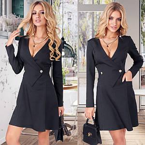 Черное нарядное платье (Код MF-235) S