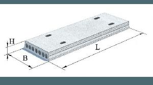 Плити перекриття залізобетонні багатопустотні попередньо напружені шириною 1500 мм і висотою 220 мм