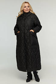 Пальто-трансформер 2в1 демисезонное длинное до пят размер от 48 до 70