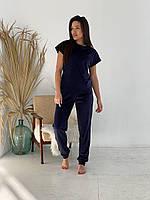 Пижама-тройка (футболка+шорты+штаны) плюшевая женская (ПОШТУЧНО)