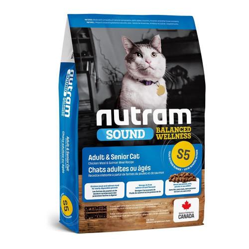 Сухой корм S5 Nutram Sound Balanced Wellness для взрослых кошек, с курицей и лососем, 320 г