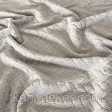 Ткань плюшевая Minky светло-серого цвета (косичка)