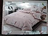 Байковый комплект постельного белья Байка ( фланель) Ветка Сине - серого цвета, фото 8