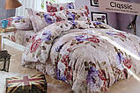 Байковый комплект постельного белья Байка ( фланель) Ветка Сине - серого цвета, фото 9