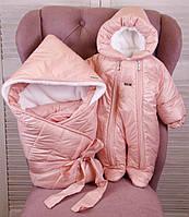 Зимний комплект для новорожденных Finland+Вьюга розовый, фото 1