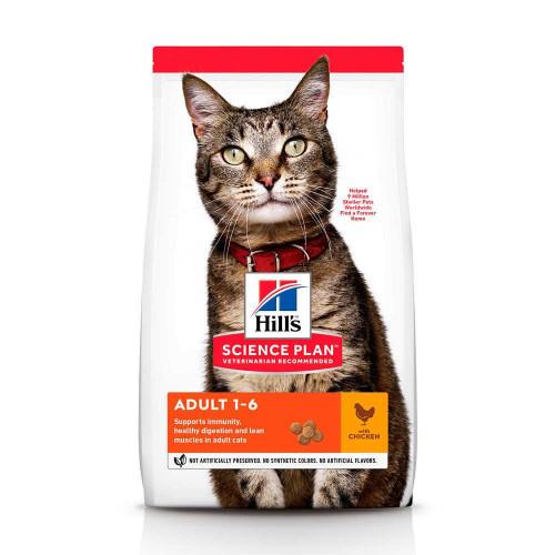 Сухой корм Hills Science Plan Adult для кошек, с курицей, 1.5 кг
