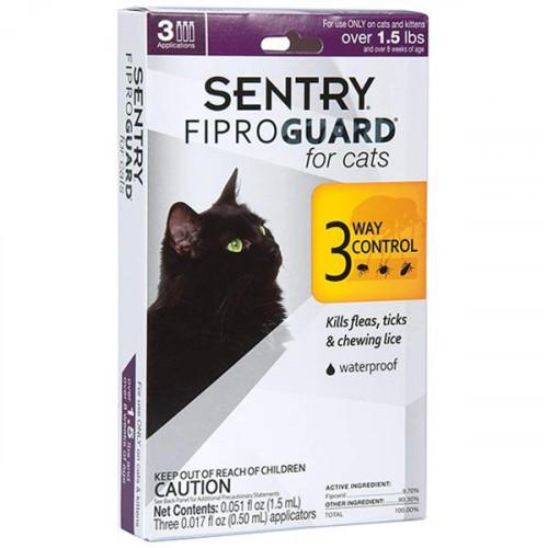 Капли Fiproguard от блох, клещей и вшей для котов и котят, 0.,5 мл, 6 шт, цена за 1 шт