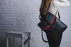 Рюкзак шкіряний LR-12 Чорний