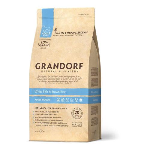 Сухой корм Grandorf White Fish & Brown Rice Adult для кошек с чувствительным пищеварением, с рыбой, 400 г