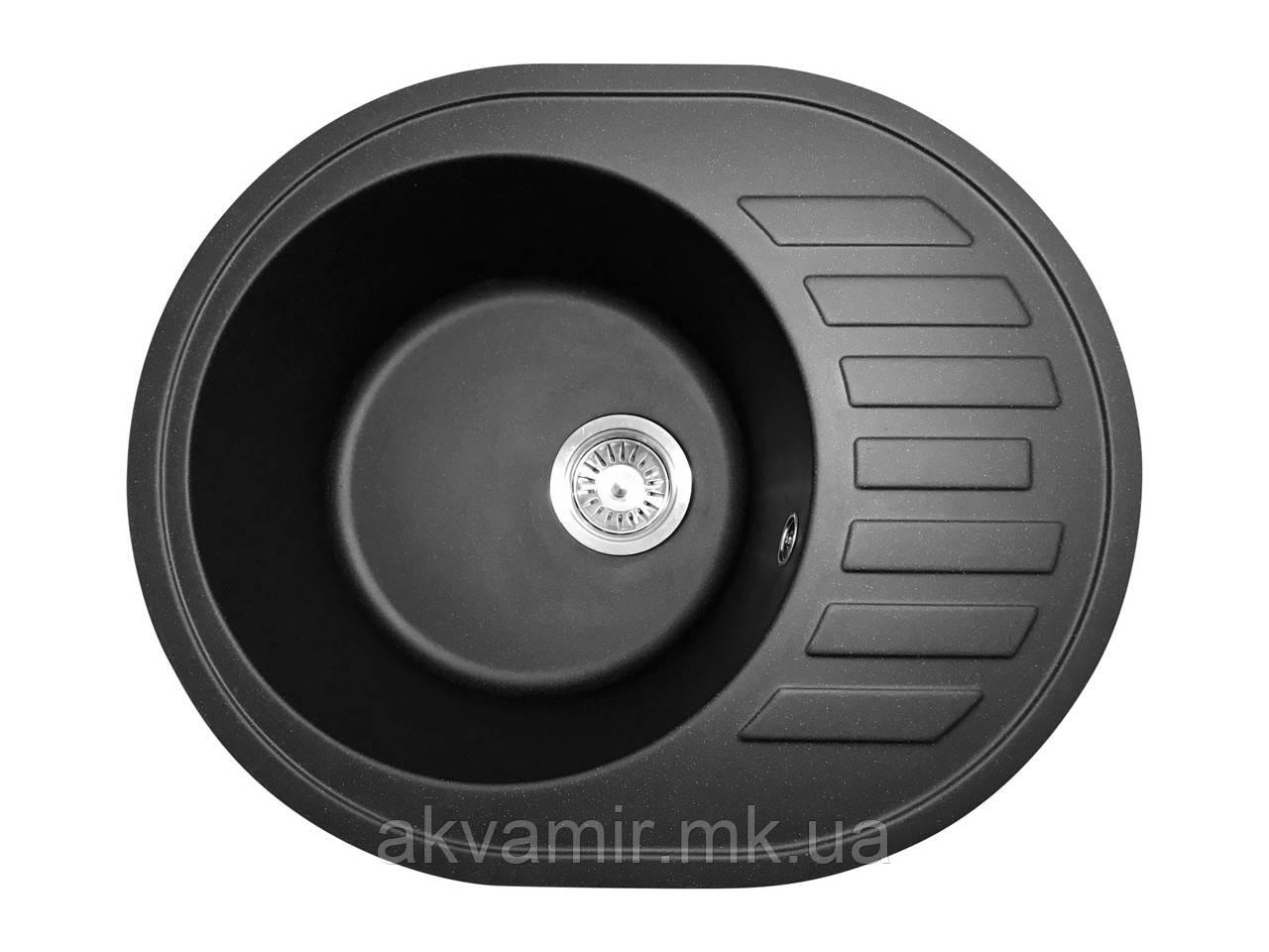 Кухонная мойка PoliComposite М03 (литой камень) черная