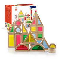 Деревянный конструктор детский набор уменьшенных блоков Guidecraft Block Play Маленькая радуга, 40 шт (G3083)