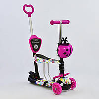 "Самокат Best Scooter 5 в 1 ""Абстракция"" 70102 подсветка платформы и колес, фото 1"
