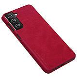 Захисний чохол-книжка Nillkin для Samsung Galaxy S21+ Qin leather case Red Червоний, фото 4