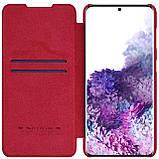 Захисний чохол-книжка Nillkin для Samsung Galaxy S21+ Qin leather case Red Червоний, фото 3