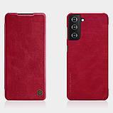 Захисний чохол-книжка Nillkin для Samsung Galaxy S21+ Qin leather case Red Червоний, фото 6