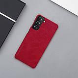 Захисний чохол-книжка Nillkin для Samsung Galaxy S21+ Qin leather case Red Червоний, фото 7