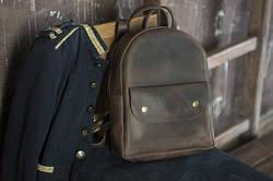 Рюкзак шкіряний LR-13 Коричневий