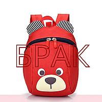 БРАК Рюкзак детский маленький, мишка. Красный с поводком. ( код: IBD001R-1 )