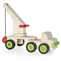 Деревянная игрушечная машинка Guidecraft Block Science Trucks Большая стенобитная машина (G7533), фото 1