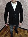 Чоловіче двобортне Пальто з кашеміру з капюшоном., фото 6