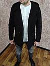 Чоловіче двобортне Пальто з кашеміру з капюшоном., фото 5
