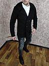 Чоловіче двобортне Пальто з кашеміру з капюшоном., фото 3