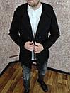 Чоловіче двобортне Пальто з кашеміру з капюшоном., фото 4
