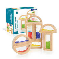 Деревянный конструктор детский набор стандартных блоков Guidecraft Block Play Бусины (G3012)