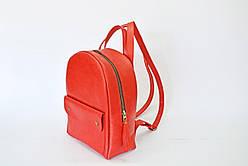Рюкзак шкіряний LR-13 Червоний