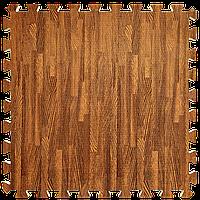 Мягкий пол пазл Дерево темное 6 шт. 600*600*10 мм модульное напольное покрытие коврик-пазл ЭВА