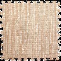 Мягкий пол пазл Розовое дерево 6 шт. 600*600*10 мм модульное напольное покрытие коврик-пазл ЭВА