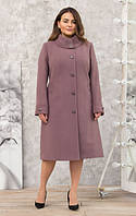 Пальто женское кашемировое -Л-614 пудра