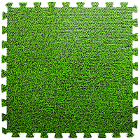 Мягкий пол пазл Зеленая трава 6 шт. 600*600*10 мм модульное напольное покрытие коврик-пазл ЭВА