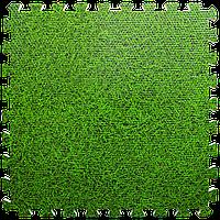 Модульне підлогове покриття Зелена трава 600*600*10 мм м'яка підлога пазл ЕВА панелі-пазли Набір 6 шт.