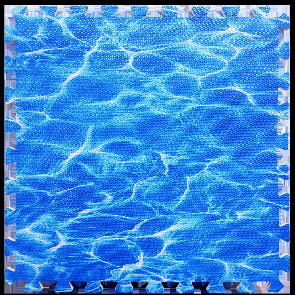 Мягкий пол пазл Океан 6 шт. 600*600*10 мм модульное напольное покрытие коврик-пазл ЭВА