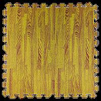 Мягкий пол пазл Дерево текстурное 4 шт. 600*600*10 модульное напольное покрытие коврик-пазл ЭВА