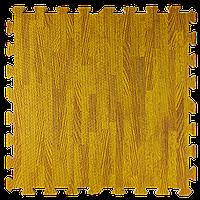 Мягкий пол пазл Дерево светлое 4 шт. 600*600*10 мм модульное напольное покрытие коврик-пазл ЭВА