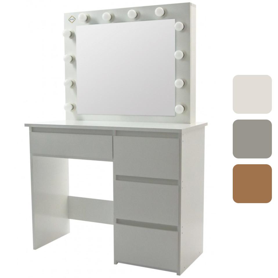 Стол косметический с зеркалом и LED-подсветкой Bonro B071 туалетный столик
