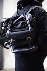Рюкзак шкіряний LR-14 Чорний